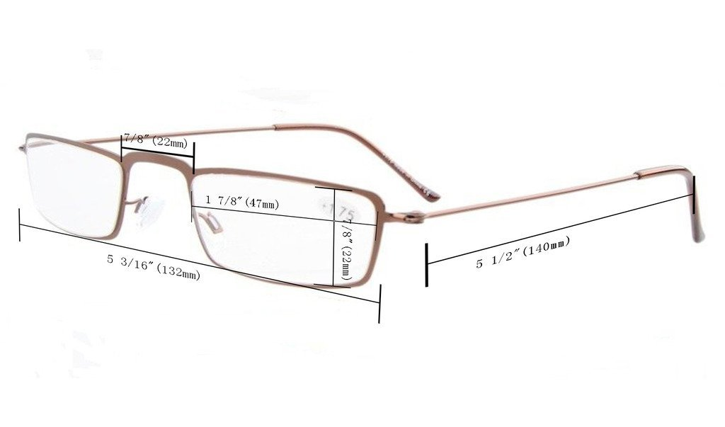 9af822ad63 5-Pack Straight Thin Stamped Metal Frame Half-Eye Style Reading Glasses  Readers  Amazon.co.uk  Health   Personal Care
