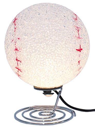 7.5 Inch Baseball Lovers Baseball Shaped Desktop Lamp/ Nightlight
