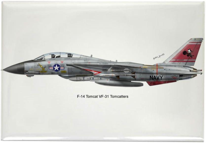 CafePress – F-14 Tomcat VF-31 tomcatters rectangular imán – rectangular imán, 2