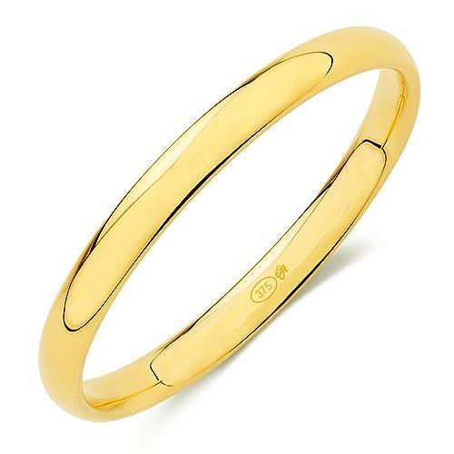 Alianza nº7 oro amarillo (9k) en brillo clásica con interior confort de 2,