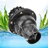Water Pump Foot Valve Black PVC Low Pressure Flat