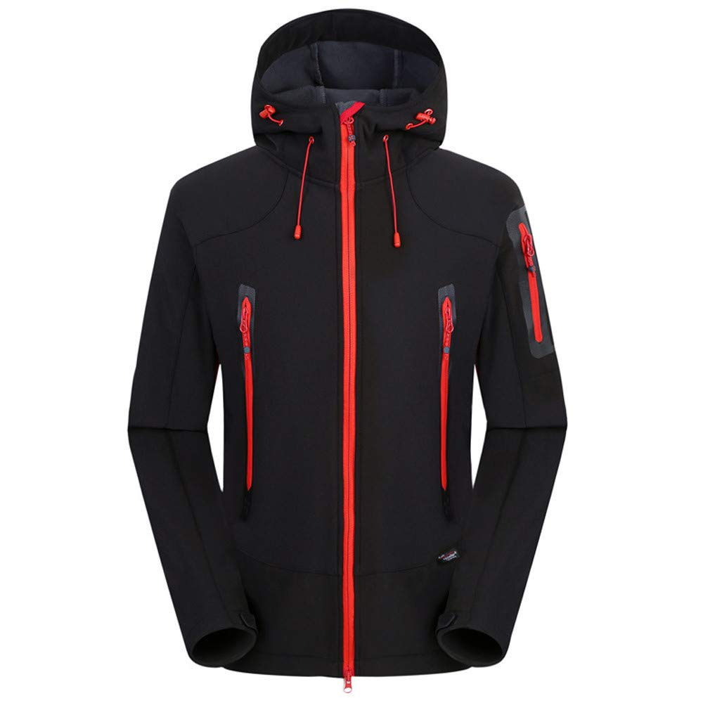 Jiayit Hooded Sweatshirt Coat Winter Sports Hoodie Coats Full Zipper for Men Big Sale