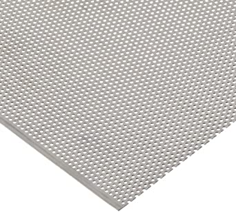 amazon com 304 stainless steel perforated sheet solid unpolished