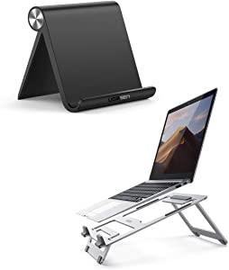 UGREEN Cell Phone Stand Holder with Laptop Stand Bundle Compatible for iPhone 11 Pro Max SE XS XR 8 Plus 6 7 5, Samsung Galaxy S20 S10 S9 S8 S7 S6 Android Smartphone