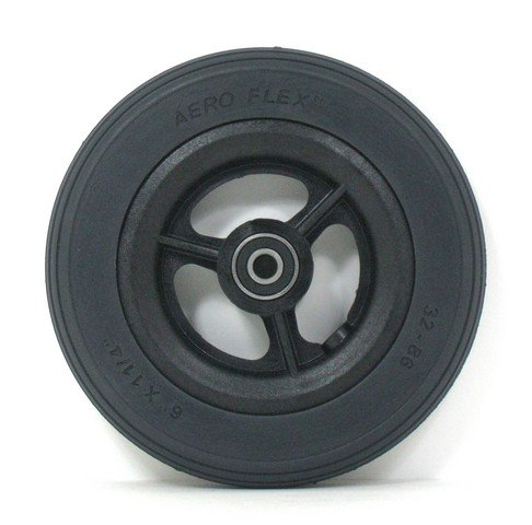 New Solutions CW111PB 6 x 1.25 in. Caster Wheels with Round Profile Urethane tires & Bearings for Wheelchair44; Set of 2