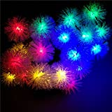 Snow Ball Outdoor Solar String Lights, 72ft 22M 200LEDs LED Fairy Globe Christmas Lights Decorative Lighting for Indoor, Garden, Home, Wedding, Patio, Party Decorations(Multi-color)