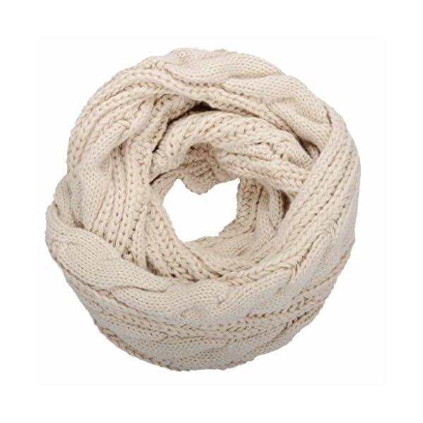 NEOSAN Womens Thick Ribbed Knit Winter Infinity Circle Loop Scarf