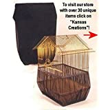 Sheer Guard Bird Cage Set Skirt and Cover - Small Size (Black) by Sheer Guard