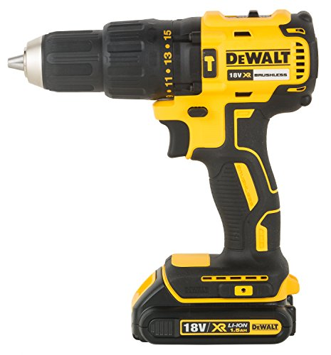 DEWALT DCD778S2T XR 18V 13mm Brushless Li-ion Cordless Hammer Drill Driver with 2x1.5 Ah Batteries included 1