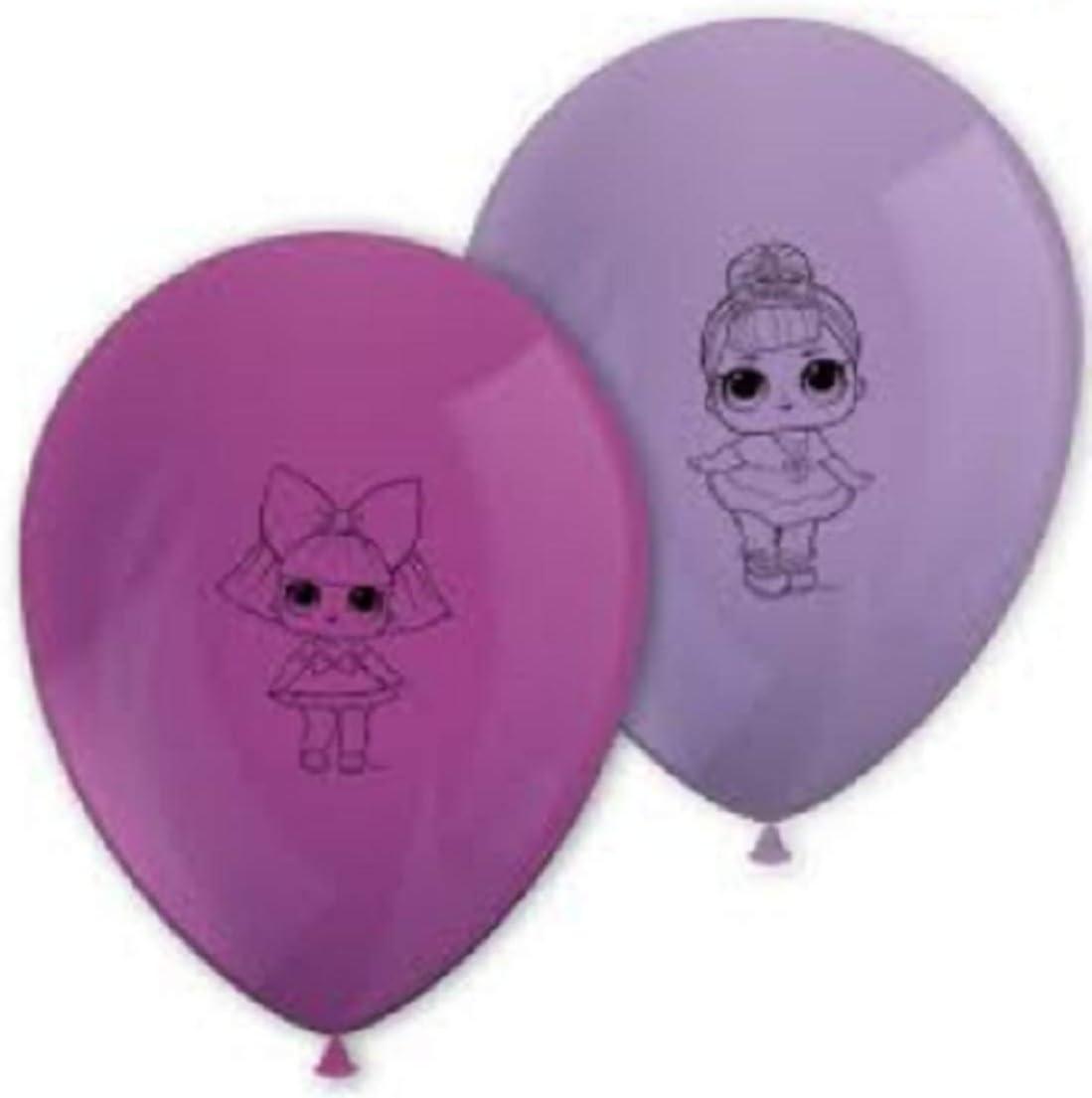 LOL SURPRISE Paquete de Globos para cumpleaños con Las Figuras de Las muñecas L.O.L. Surprise (8 Unidades): Amazon.es: Juguetes y juegos