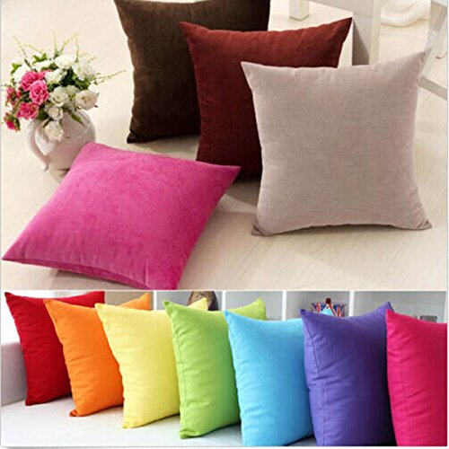 50X50CM ante casos de almohada cama cojín 7 colores del ...