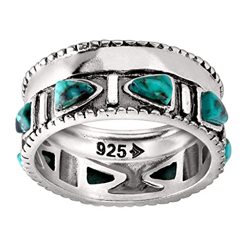 Silpada 'Trailblazer' Compressed Turquoise and Sterling Silver Ring, Size 11