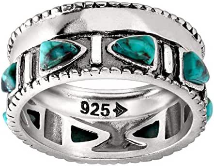Silpada 'Trailblazer' Compressed Turquoise and Sterling Silver Ring