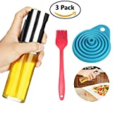 Blosion Olive Oil Sprayer for Picnic,Protable Glass Oil Spray Bottle for BBQ and Making Salad, Oil Dispenser for Cooking,Baking,Grilling,Roasting