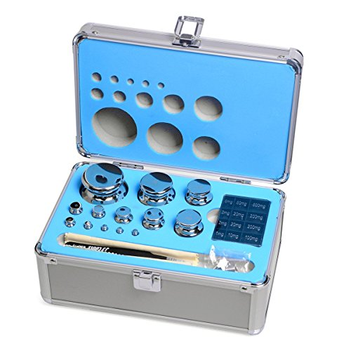 Goetland 304 Stainless Steel Class F1 Calibration Scale Weight Kit Set 1 mg - 1 kg 25 pcs for Balance ()