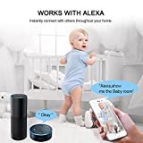 UNIOJO Security Camera 1080P IP Camera WiFi Wireless Security Surveillance System Works with Alexa for Baby Monitor/Pet Camera/Home Camera
