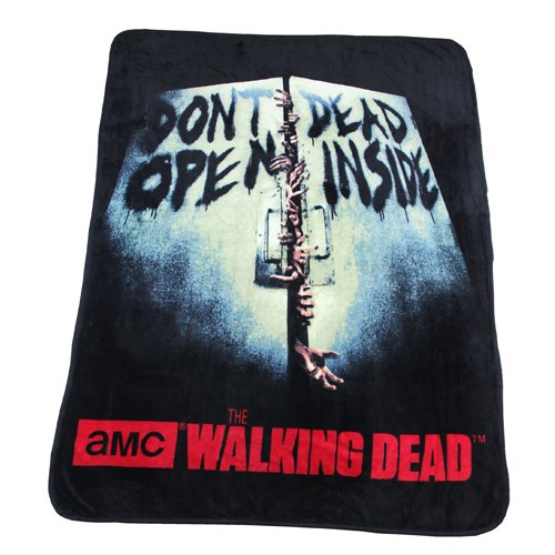 Rabbit Tanaka The Walking Dead Fleece Throw Don't Open for sale  Delivered anywhere in USA
