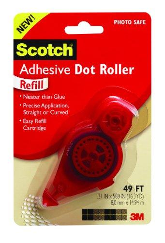 (Scotch Adhesive Dot Roller Refill, 0.31 x 49 Feet (6055-R))