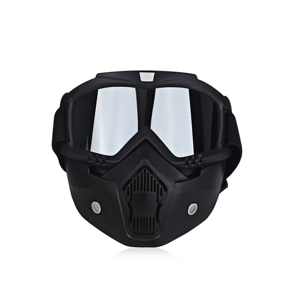 C Retro Ski Bike Motorcycle Swimming Mask Goggles Motor Open Face Detachable Goggles Riding Goggles (color   C)