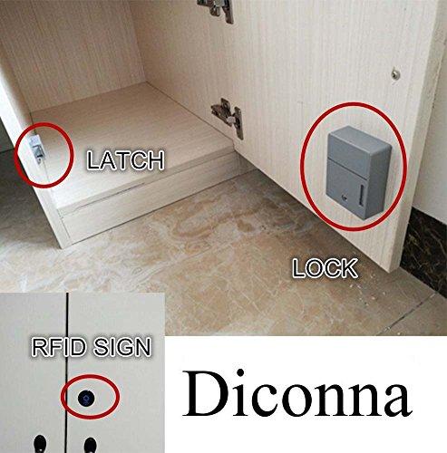 Diconna RFID Electronic Cabinet Lock Hidden DIY Lock Kit Set for Drawer Locker by Diconna (Image #1)