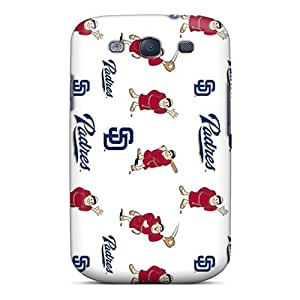 Bumper Hard Phone Cases For Galaxy S3 With Unique Design Realistic San Diego Padres Series CassidyMunro