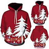 FANOUD Men's Casual 3D Printing Christmas Tree Print Hooded Sweater Winter Christmas Decration Tops