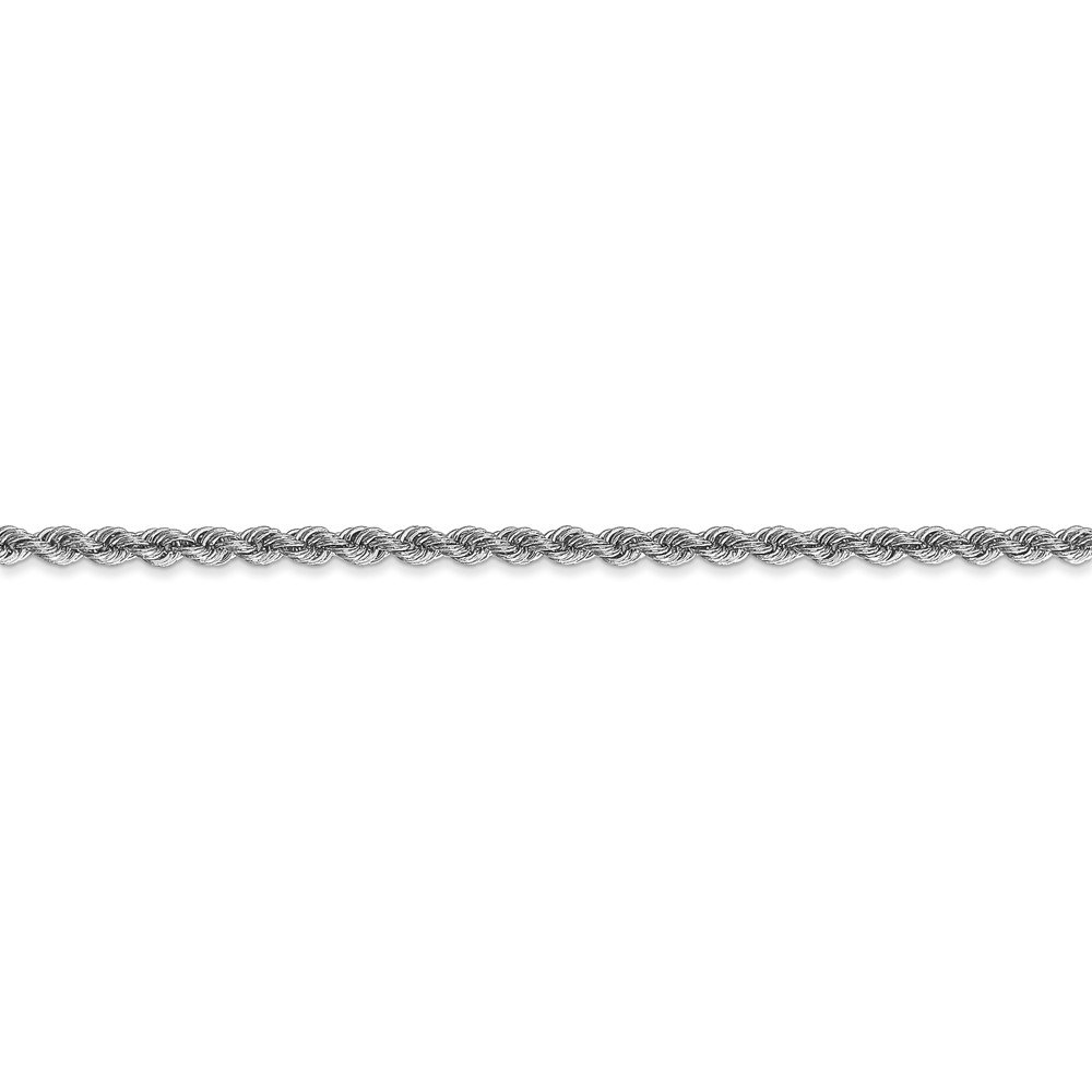Jewels By Lux 14K White Gold 2.5mm Regular Rope Chain
