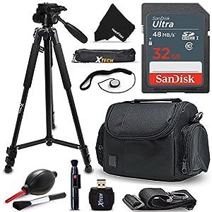 """Xtech 32GB Memory Card Kit + Premium Camera Case + Pro Series 72"""" inch Tripod f/ Samsung NX500, NX1, NX3000, WB2200F, WB1100F, NX30, NX, NX2000, NX1100, NX300, NX300M, EX2F"""