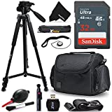 Xtech 32GB Memory Card Kit + Premium Camera Case + Pro Series 72 inch Tripod f/ Sony Alpha A6500 A6300 A6000 A55 A9, A7R II, A7 II, A7 A7R A7S A65 A77 A99 A900 A700 A580 (32GB Accessories Kit)
