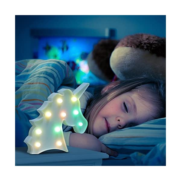 AIZESI Rainbow Colorful Unicorn Light,Unicorn Marquee Signs Unicorn Party Supplies,Unicorn LED Night Light Wall Decoration Room Decor,Desk Table Lamp,Kids Gift for Birthday Xmas(Rainbow Unicorn) 9