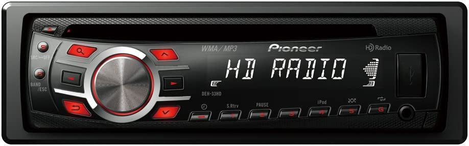 Pioneer DEH-33HD CD Receiver with HD Tuner Built-In and iPod//iPhone Control