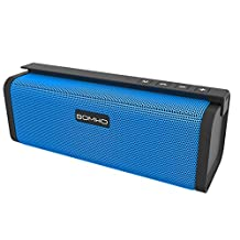Mini Bluetooth Speakers, HLS S311 10W Dual-Driver Portable Wireless Stereo Outdoor Speaker with FM Radio, Micro SD Card and Built-in Mic for Calls, for iPhone iPad and Other Bluetooth Devices - Blue
