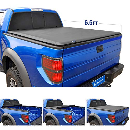 Tyger Auto T1 Roll Up Truck Bed Tonneau Cover TG-BC1F9023 works with 2009-2014 Ford F-150 (Excl. Raptor Series) | Styleside 6.5' Bed | For models without Utility Track System - Lock Side Driver Hole