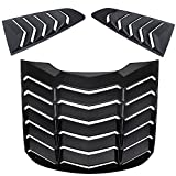 Danti Matte Black Rear and Side Window Louvers Sun Shade Cover in GT Lambo Style For Ford Mustang 2015 2016 2017