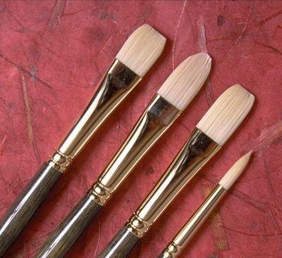Princeton Series 6300 Synthetic Bristle Acrylic & Oil Brush 12 filbert by Princeton