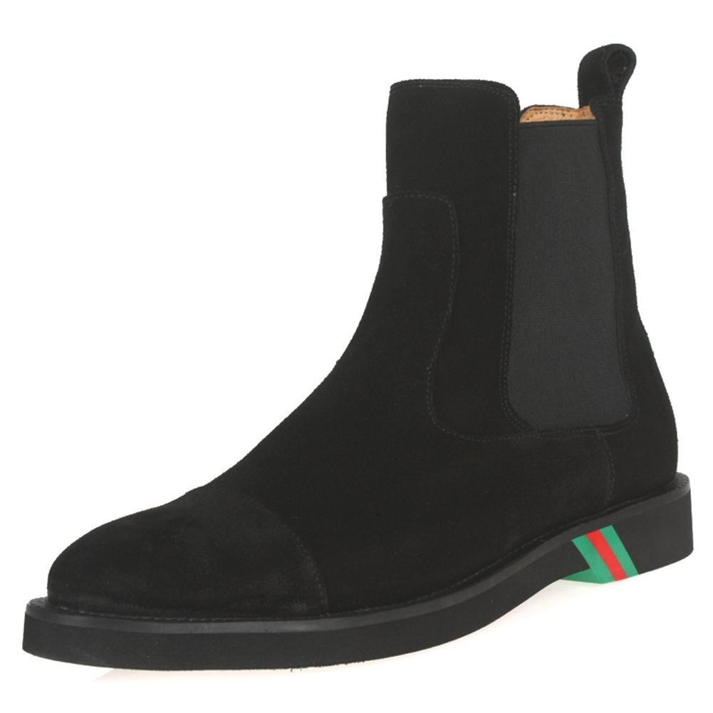 Hombres Botas Zapatos Ante Ponerse Cómodo Ligero Negro Soltero marrón Casual Moda Mocasín para Hombres Trabajo Fiesta tamaño 38-45 , black , EUR 43/ UK 10 EUR 43/ UK 10|black