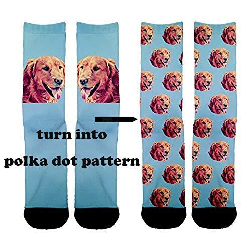 Custom Pet Socks Turn your Dog Picture into Custom Socks Cat Socks Unisex for $<!--$14.99-->