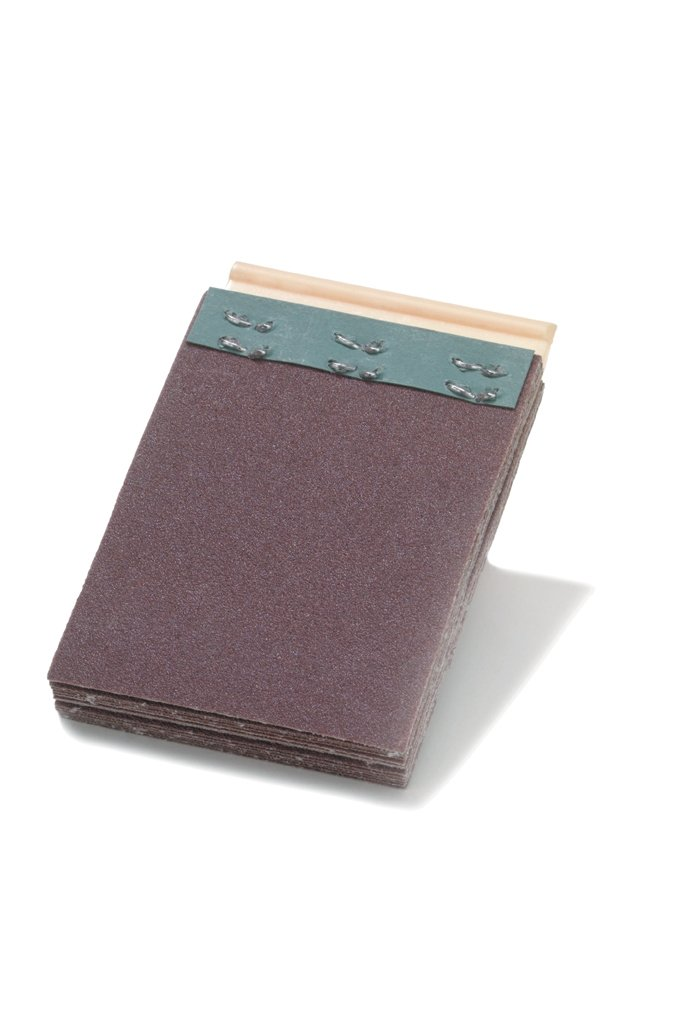 Merit Flexdrum Plain Abrasive Segment, Aluminum Oxide, Resin Bond, 2'' Width , 2-3/4'' Trim, Grit 120 (Pack of 10)