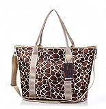 Good&god Baby Diaper Bag Nappy Tote Messenger Changing Bag, Leopard