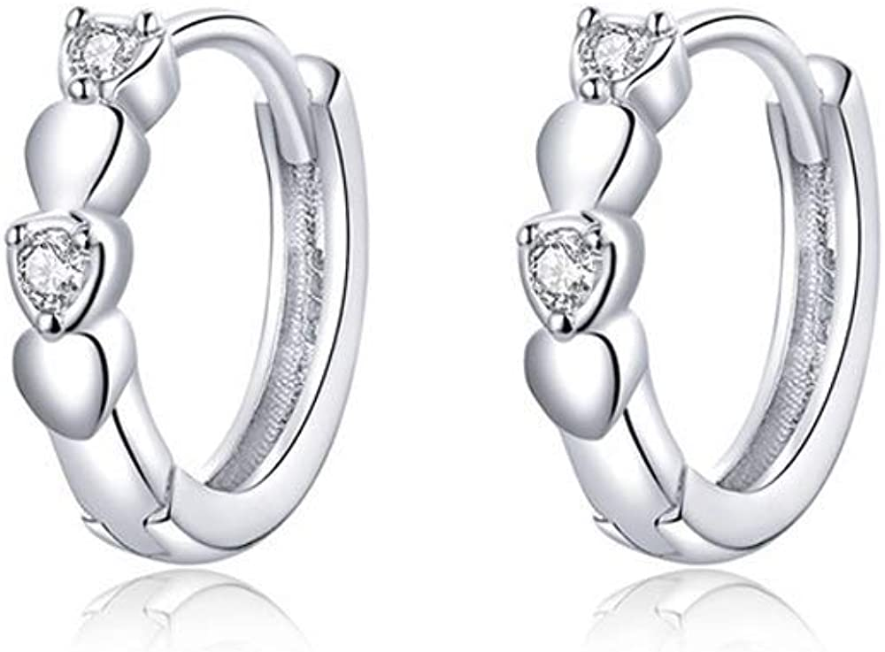 Moon Star Dangle Hoop Earrings for Women Men Gold & Silver Plated CZ Drop Earrings Cute Mini Cartilage Clip Jewelry Gift for Birthday