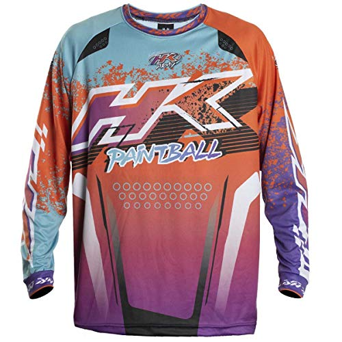 HK Army Retro Paintball Jersey - Liquid - Orange/Teal - Medium