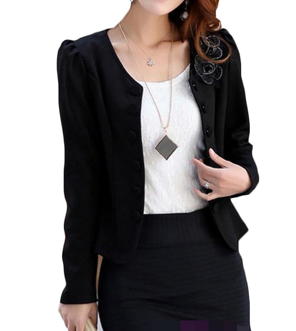 WANSHIYISHE Womens Sport Coat Double-breasted Open Front Blazer Jacket