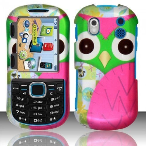 - For Samsung Intensity 2 U460 Rubberized Design Hard Cover Case Green Pink Owl