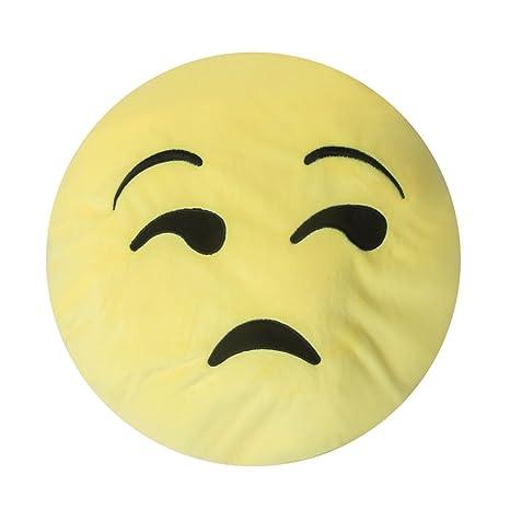 Amazon.com: Innova importshome Decor Emoji almohada – Triste ...