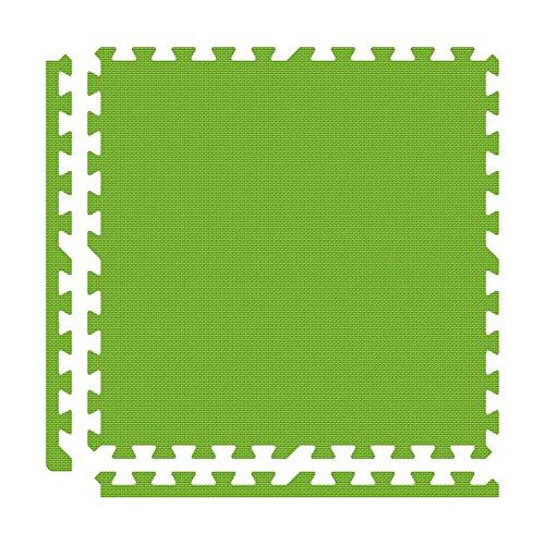 Alessco EVA Foam Rubber Interlocking Premium Soft Floors 30' x 30' Set Lime Green