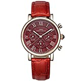 IBSO Women Wristwatches Ladies Calendar Week Display 24 Hours Chronograph Analog Quartz Watches