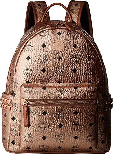 MCM Women's Stark Backpack Small Champagne Gold One Size