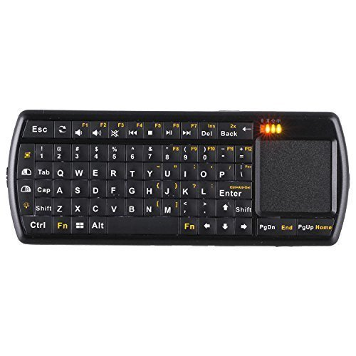 Gtide Handheld Mini 2.4G RF Wireless Backlit Keyboard with Touchpad and Flashlight for Google Android Smart TV HTPC PC Windows 8 IPKW250FUSK