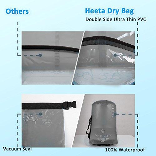 5048e04e612d Heeta Dry Bag Waterproof Roll Top Transparent Floating Sack 10L/20L ...