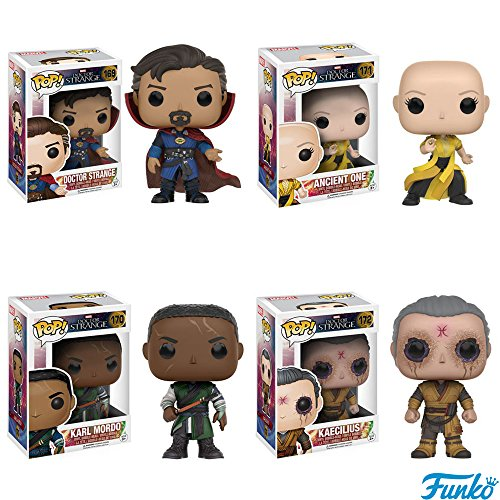 Doctor Strange Pop!s: Doctor Strange, Ancient One, Mordo, Kaecilius Vinyl Figures! Set of 4